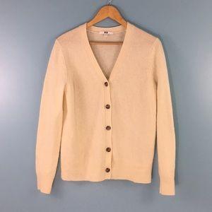 Uniqlo • Wool Button Cardigan Cream M